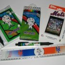 New York Mets Kids Gift Asst. School Supplies w/ 2007 Topps Team Set