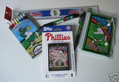 Philadelphia Phillies Kids Gift Asst. School Supplies w/ 2007 Topps Team Set