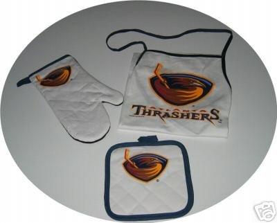 Atlanta Thrashers Tailgate BBQ 3pc Set Mitt Apron Gift