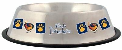 Atlanta Thrashers Pet Dog 32oz Stainless Steel Bowl Gift