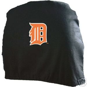 Detroit Tigers Auto Car Head Rest Covers Set Gift