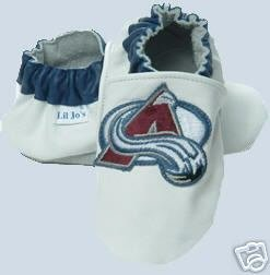 Colorado Avalanche Leather Baby Shoes Booties 6-12 mo.