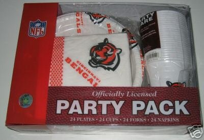 Cincinnati Bengals 96pc Party Pack Cups Plates Napkins Gift
