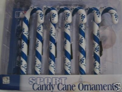 Los Angeles Dodgers Candy Cane Christmas Tree Ornament Set Gift