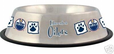 Edmonton Oilers 32oz Stainless Steel Pet Dog Food Water Bowl Gift