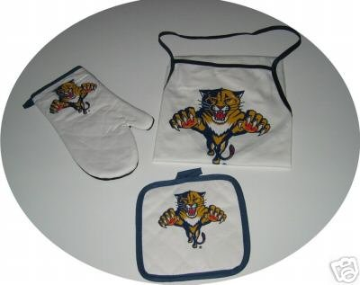 Florida Panthers 3pc BBQ Tailgate Set Apron Mitt Gift