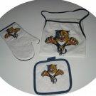 Florida Panthers 3pc BBQ Tailgate Set Apron Mitt Gift