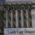 Minnesota Wild Candy Cane Christmas Tree Ornament Set Gift