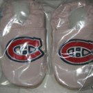 Montreal Canadiens PINK Leather Baby Shoes Booties 0-6 Gift
