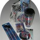 New York Rangers 4pc Hockey Gift Net Basket Travel Mug