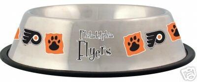 Philadelphia Flyers 32oz Stainless Steel Pet Dog Food Water Bowl Gift