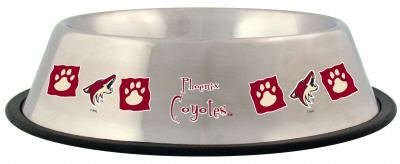 Phoenix Coyotes 32oz Stainless Steel Pet Dog Food Water Bowl Gift