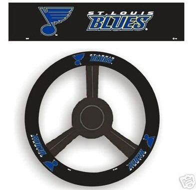 St. Louis Blues Leather Steering Wheel Cover Car Gift