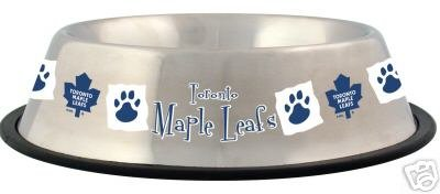 Toronto Maple Leafs 32oz Stainless Steel Pet Dog Food Water Bowl Gift
