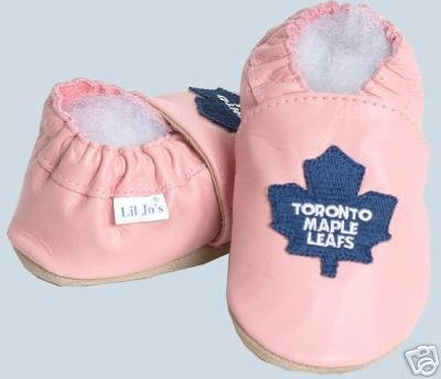 Toronto Maple Leafs PINK Leather Baby Shoes Booties Gift