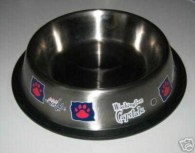 Washington Capitals 32oz Stainless Steel Pet Dog Food Water Bowl Gift