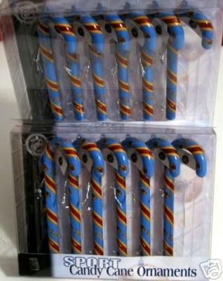 2 Sets Atlanta Thrashers Candy Cane Christmas Ornaments Gift