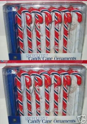 2 Sets St. Louis Cardinals Candy Cane Christmas Ornaments Gift