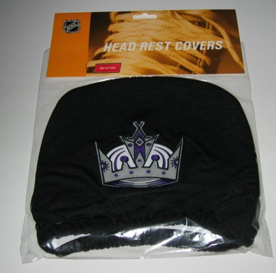 Los Angeles Kings Car Auto Head Rest Covers Set Gift