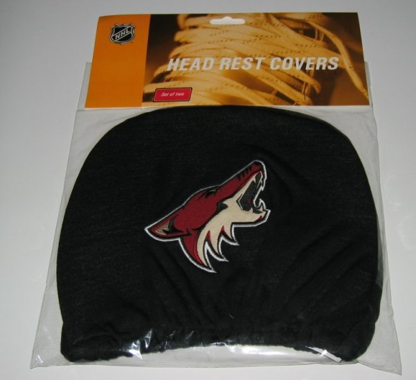 Phoenix Coyotes Car Auto Head Rest Covers Set Gift