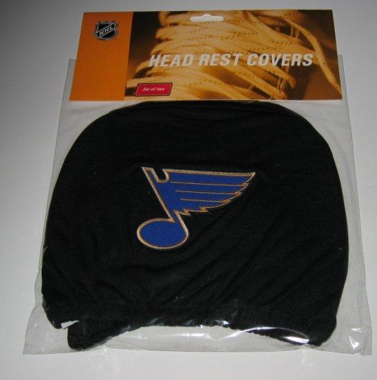 St. Louis Blues Car Auto Head Rest Covers Set Gift