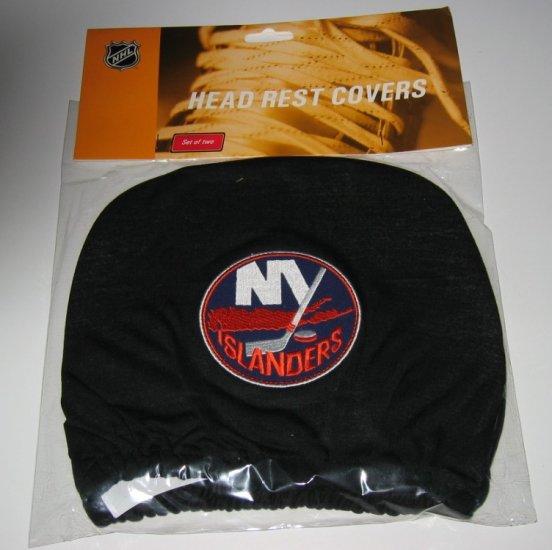 New York Islanders Car Auto Head Rest Covers Set Gift