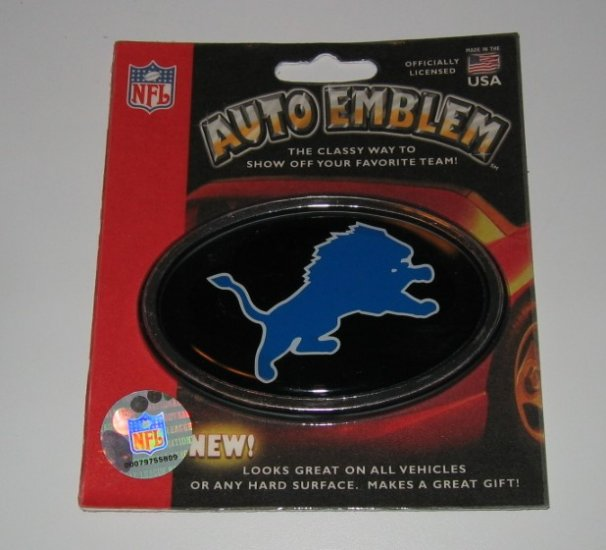 Detroit Lions 3-D Color Chrome Auto Car Emblem Gift