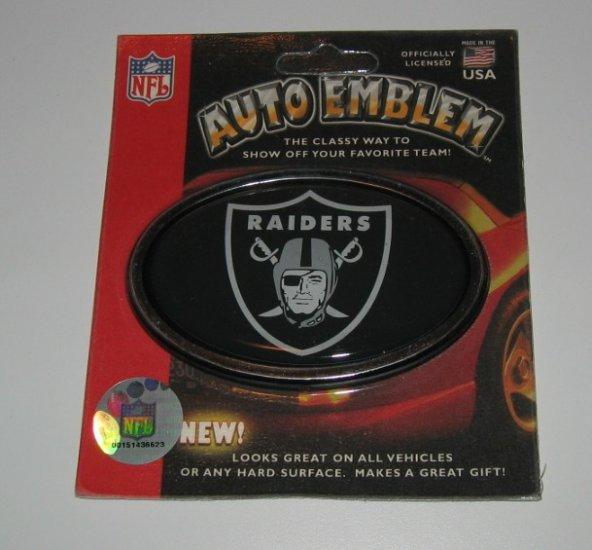 Oakland Raiders 3-D Color Chrome Auto Car Emblem Gift