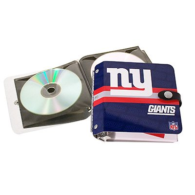 New York Giants Littlearth Rock-n-Road CD DVD Holder Album Gift