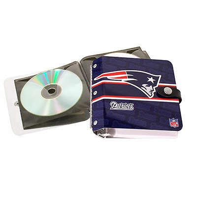 New England Patriots Littlearth Rock-n-Road CD DVD Holder Case Gift