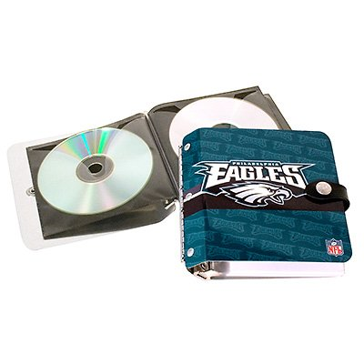 Philadelphia Eagles Littlearth Rock-n-Road CD DVD Holder Case Gift
