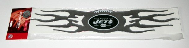 New York Jets Auto Car Chrome Graphic Emblem Flames Gift