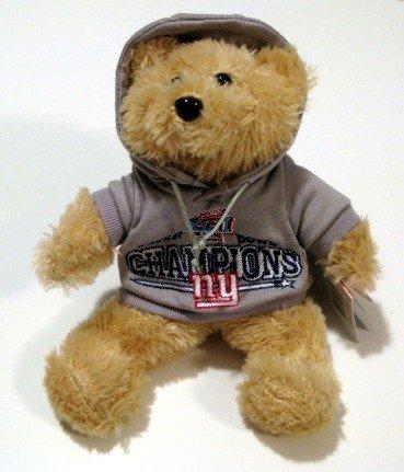 "New York Giants Super Bowl XLII Champions 8"" Hoody Plush Bear Gift"