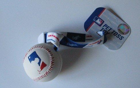 Los Angeles Dodgers Pet Dog Baseball Ball Toss Tug Toy Gift