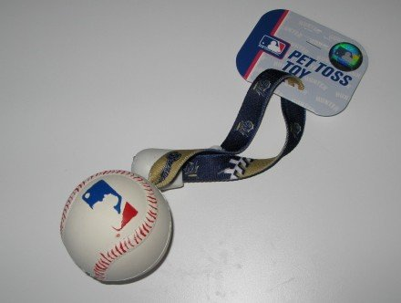 Milwaukee Brewers Pet Dog Baseball Ball Toss Tug Toy Gift