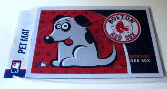 Boston Red Sox Dog Pet Food/Water Padded Mat Placemat Gift