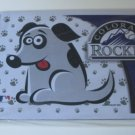 Colorado Rockies Dog Pet Food/Water Padded Mat Placemat Gift