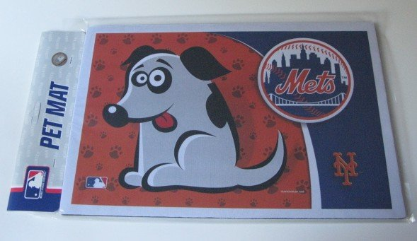 New York Mets Dog Pet Food/Water Padded Mat Placemat Gift