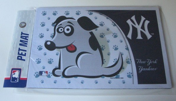New York Yankees Dog Pet Food/Water Padded Mat Placemat Gift