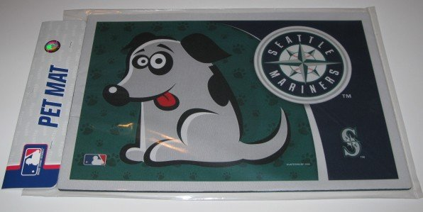 Seattle Mariners Dog Pet Food/Water Padded Mat Placemat Gift