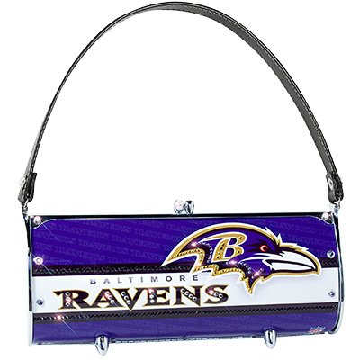 Baltimore Ravens Littlearth Fender Flair Purse Bag Swarovski Crystals Gift