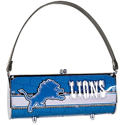 Detroit Lions Littlearth Fender Flair Purse Bag Swarovski Crystals Gift