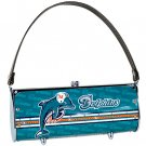 Miami Dolphins Littlearth Fender Flair Purse Bag Swarovski Crystals Gift