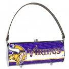 Minnesota Vikings Littlearth Fender Flair Purse Bag Swarovski Crystals Gift