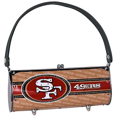 San Francisco 49ers Littlearth Fender Flair Purse Bag Swarovski Crystals Gift