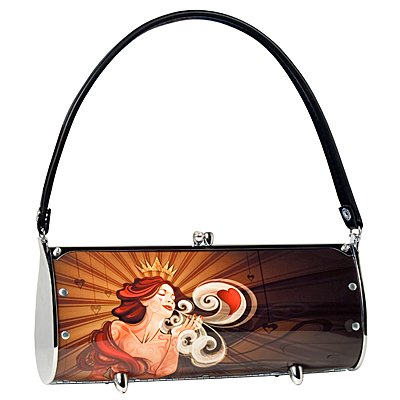 Littlearth Queen Of Hearts Fender Purse Bag Gift Casino