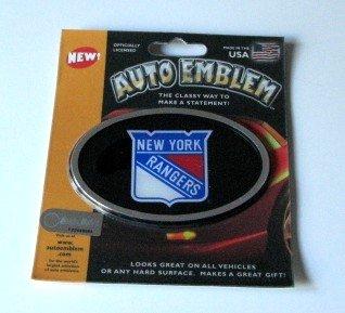New York Rangers 3-D Color Chrome Auto Car Emblem Gift