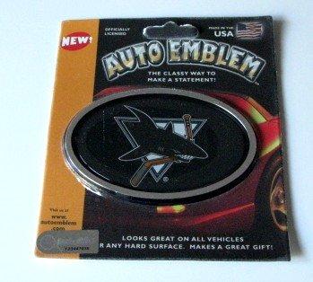 San Jose Sharks 3-D Color Chrome Auto Car Emblem Gift