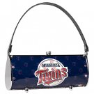 Minnesota Twins Littlearth Fender Flair Purse Bag Swarovski Crystals Gift