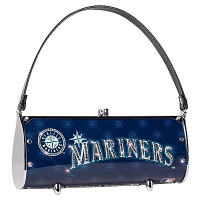 Seattle Mariners Littlearth Fender Flair Purse Bag Swarovski Crystals Gift
